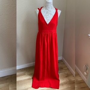 Adelyn Rae Strappy Red Maxi Dress Size Large